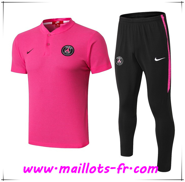 Ensemble Polo Paris PSG + Pantalon Rose 2019 2020