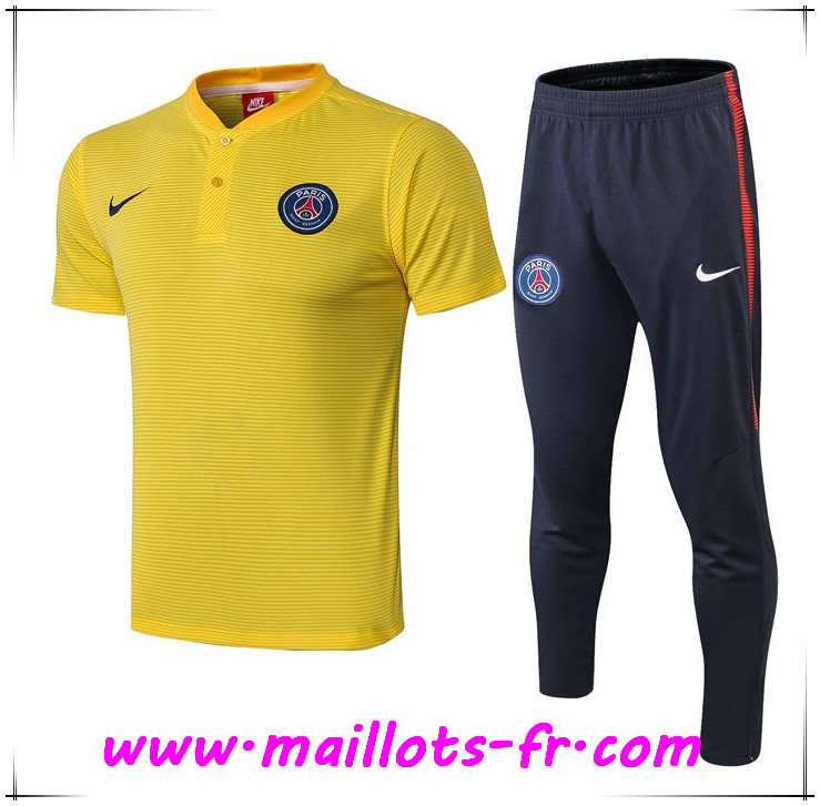 Ensemble Polo Paris PSG + Pantalon Jaune 2019 2020