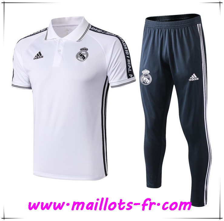 Ensemble Polo Real Madrid + Pantalon Blanc 2019 2020
