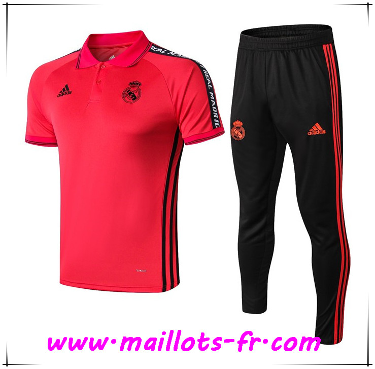 Ensemble Polo Real Madrid + Pantalon Rouge 2019 2020