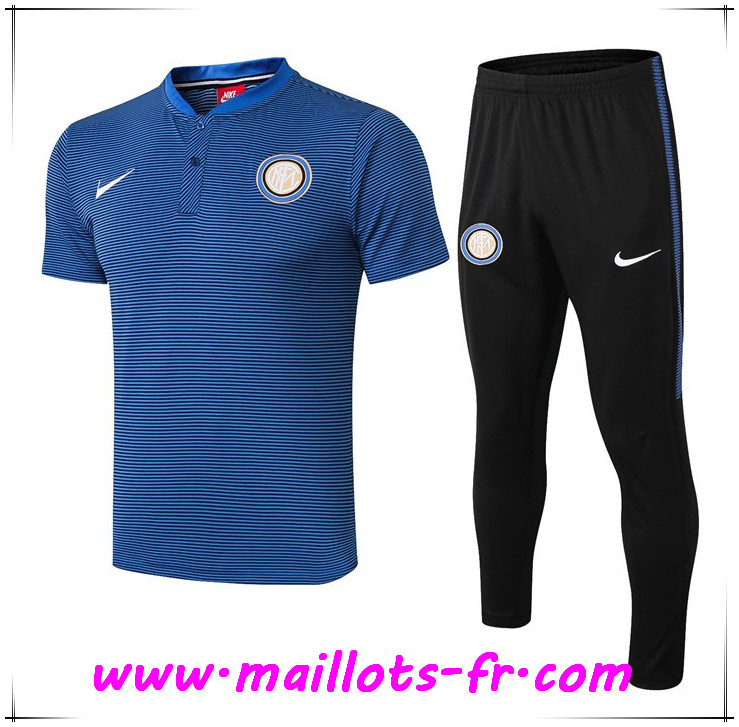Ensemble Polo Inter Milan + Pantalon Bleu 2019 2020
