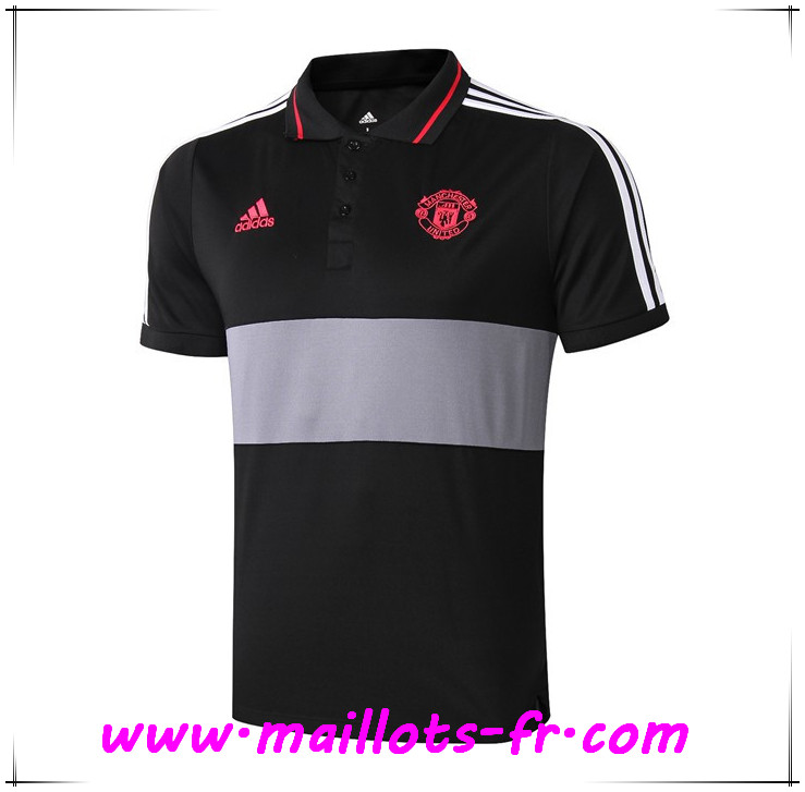 Polo Foot Manchester United Noir/Gris 2019 2020