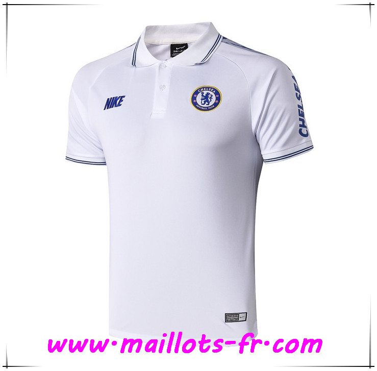 Polo Foot FC Chelsea Blanc 2019 2020