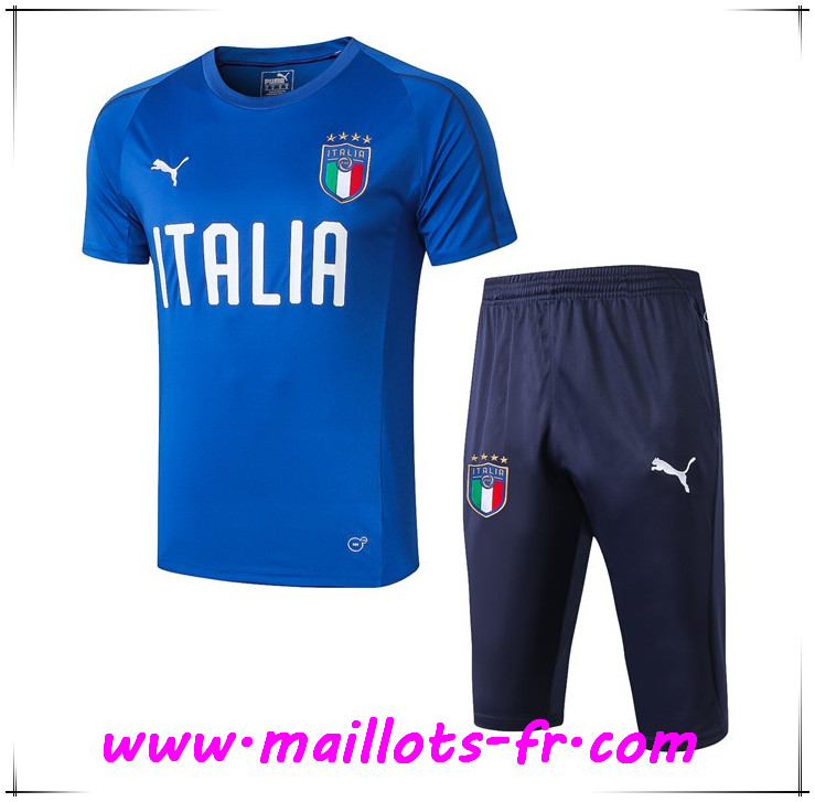 Ensemble PRÉ MATCH Training Italie + Pantalon 3/4 Bleu 2019 2020
