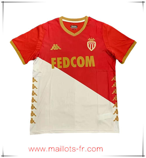 Maillot de Foot AS Monaco Domicile Rouge Blanc 1920