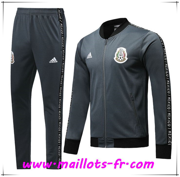 Ensemble Survetement de Foot - Veste Mexique Gris Fonce 2019 2020