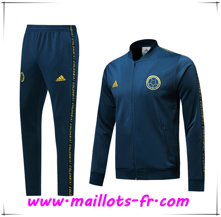 Ensemble Survetement de Foot - Veste Colombie Bleu 2019 2020