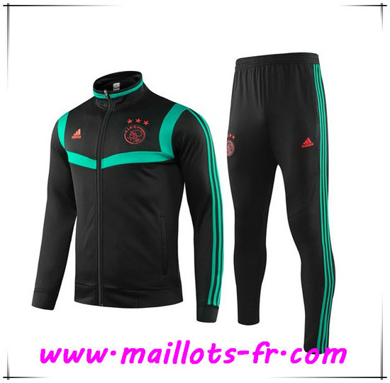 Ensemble Survetement de Foot - Veste AFC Ajax Vert/Noir 2019/2020
