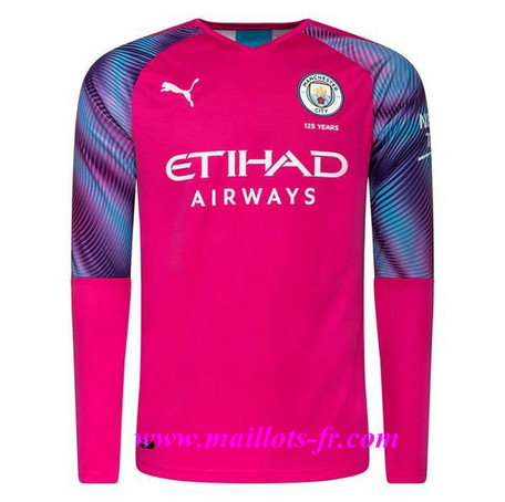 nouveau Maillot de Foot Manchester City Gardien de but Orange Manche Longue 2019/20