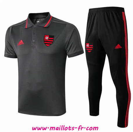 Ensemble Training Flamenco RJ + Pantalon POLO Gris foncé/Noir 2019/2020
