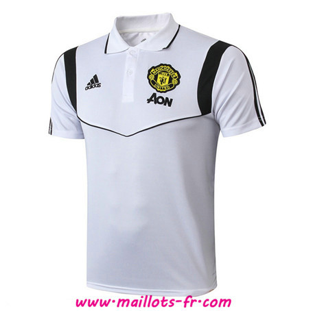 PRÉ MATCH Training Manchester United POLO Blanc