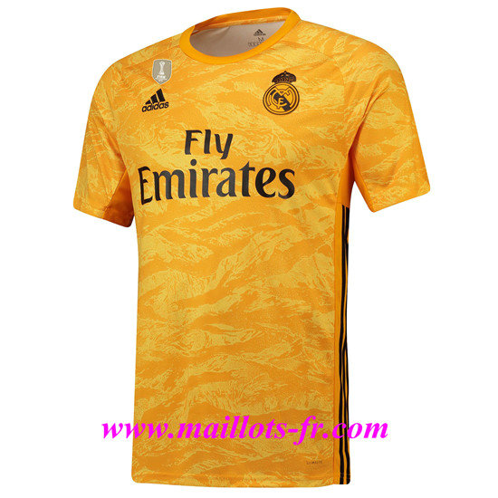 Maillot foot Real Madrid Dardien De But Jaune 2019/2020 Pas Cher