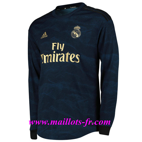 Maillot foot  Real Madrid Exterieur Manche Longue 2019/2020  Pas Cher