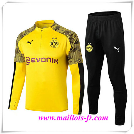 Ensemble Survetement de Foot Borussia Dortmund BVB Jaune 2019/2020