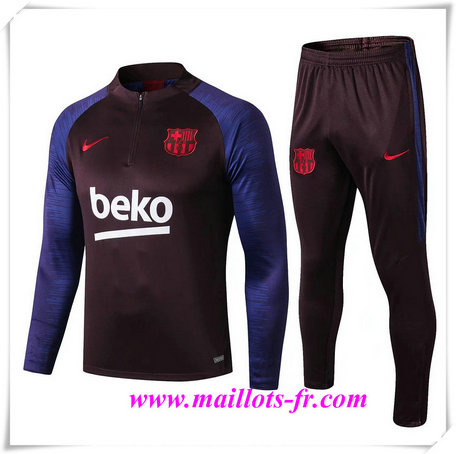 Ensemble Survetement de Foot Barcelone beko 2019/2020 sweat zippe
