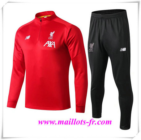 Ensemble Survetement de Foot Liverpool Rouge + Short Noir 2019/2020