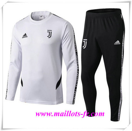 Ensemble Survetement de Foot Juventus Blanc + Short Noir 2019/2020