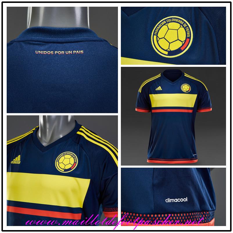 nouveau maillot foot colombie valderrama 10 2015 exterieur pas cher. Black Bedroom Furniture Sets. Home Design Ideas