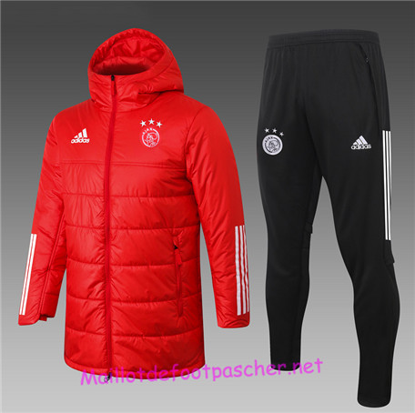 Maillotdefootpascher - Survetement Doudoune AFC Ajax Homme Rouge 2020 2021
