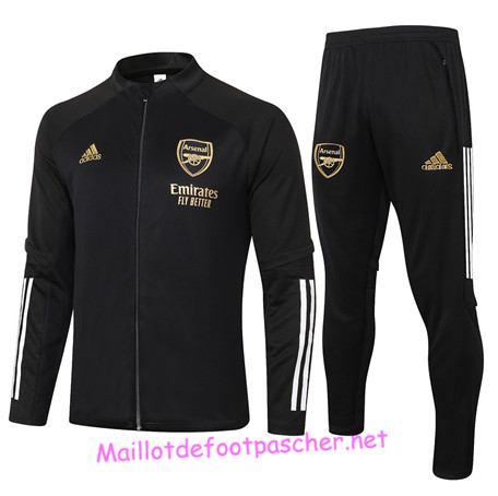 Maillotdefootpascher - Survetement de Foot - Veste Arsenal Homme Noir 2020 2021