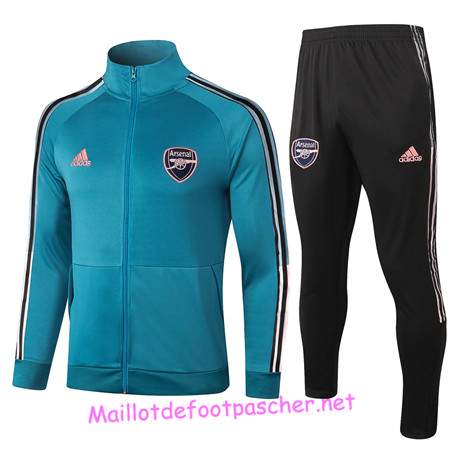 Maillotdefootpascher - Survetement de Foot - Veste Arsenal Homme Bleu Marine 2020 2021