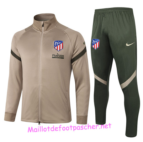 Maillotdefootpascher - Survetement de Foot - Veste Atletico Madrid Homme Kaki 2020 2021