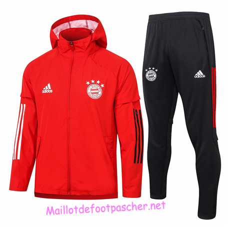 Maillotdefootpascher - Survetement Coupe vent Bayern Munich Homme Rouge 2020 2021