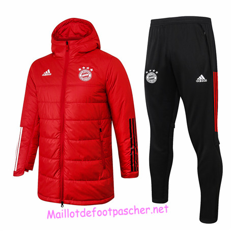 Maillotdefootpascher - Survetement Doudoune Bayern Munich Homme Rouge 2020 2021