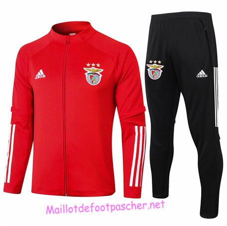 Maillotdefootpascher - Survetement de Foot - Veste Benfica Homme Rouge 2020 2021