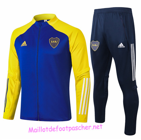 Maillotdefootpascher - Survetement de Foot - Veste Boca Juniors Homme Bleu/Jaune 2020 2021