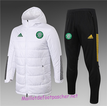 Maillotdefootpascher - Survetement Doudoune Celtic Homme Blanc 2020 2021