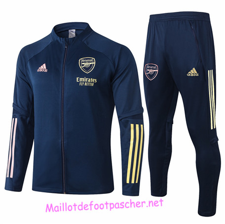 Maillotdefootpascher - Survetement de Enfant - Veste Arsenal Bleu Marine 2020 2021