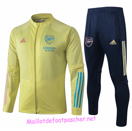 Maillotdefootpascher - Survetement de Enfant - Veste Arsenal Jaune 2020 2021