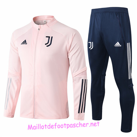 Maillotdefootpascher - Survetement de Enfant - Veste Juventus Rose 2020 2021