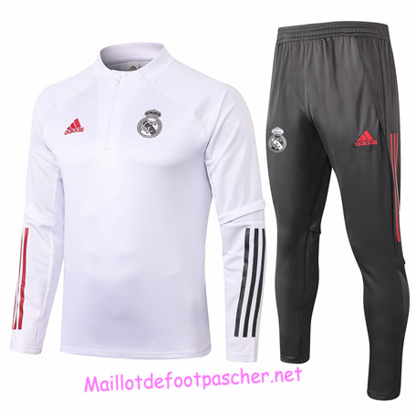 Maillotdefootpascher - Survetement de Enfant Real Madrid Blanc 2020 2021
