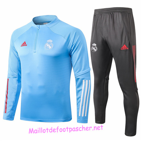 Maillotdefootpascher - Survetement de Enfant Real Madrid Bleu clair 2020 2021