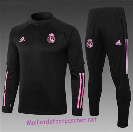 Maillotdefootpascher - Survetement de Enfant Real Madrid Noir/Rouge 2020 2021