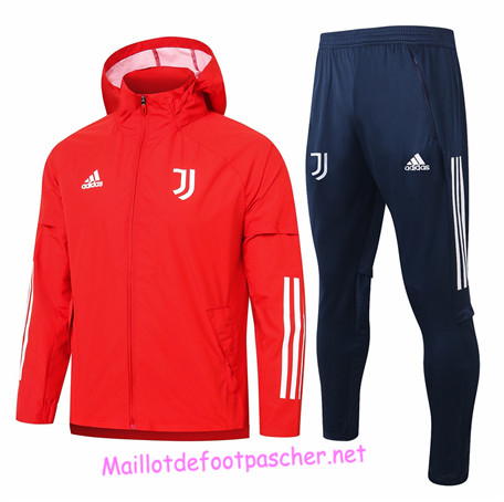 Maillotdefootpascher - Survetement Coupe vent Juventus Homme Rouge 2020 2021