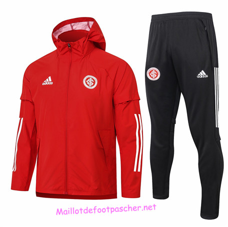 Maillotdefootpascher - Survetement Coupe vent SC Internacional Homme Rouge 2020 2021