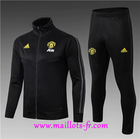 Veste Survetement Manchester United Enfant Noir 2019/2020