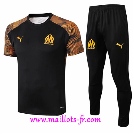 Ensemble Training Marseille + Pantalon Jaune/Noir 2019/2020