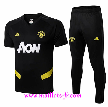Ensemble Training Manchester United + Pantalon Noir 2019/2020