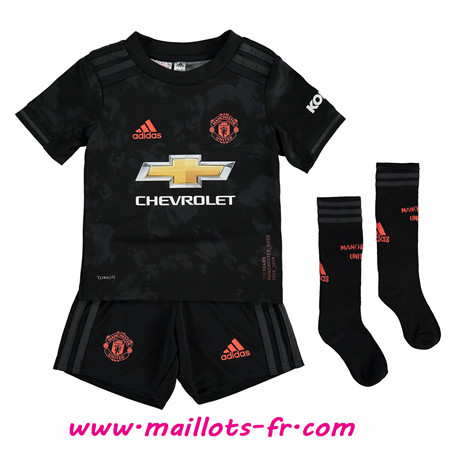 Maillot foot Manchester United Enfant Third Noir 2019/2020