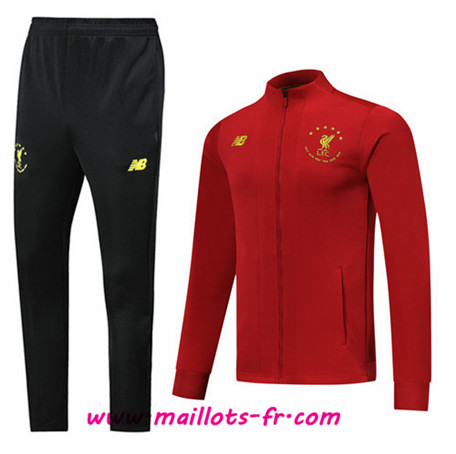 Thailande Veste Survetement de Foot Liverpool 6 Times Ed Signature Rouge/Noir 2019/2020 Ensemble