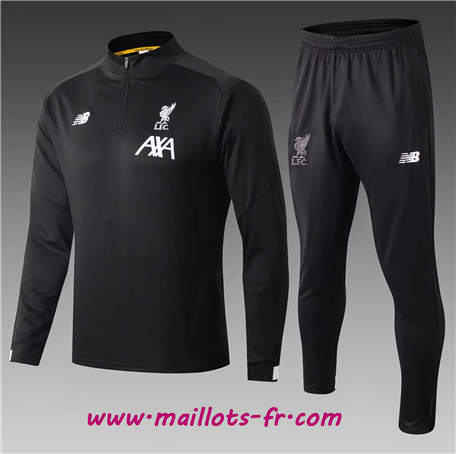 Survetement Liverpool Enfant kit Noir 2019/2020