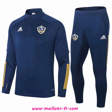 nouveau Ensemble Survetement de Foot Los Angeles Galaxy Bleu Marine 2020/2021