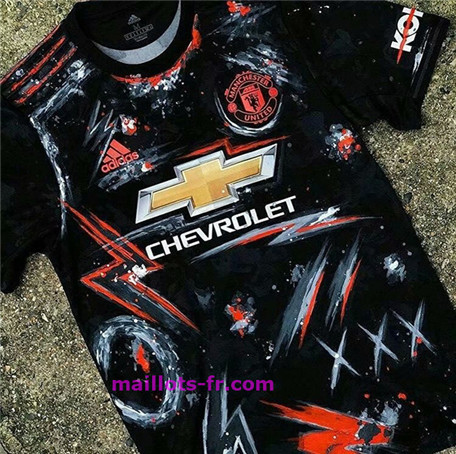 Maillot foot Manchester United Special Edition Noir 2020 2021 Homme