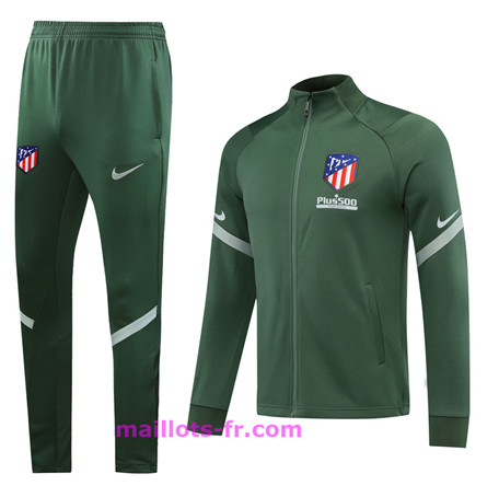 : Officiel Nouveau Survetement de Foot - Veste Atletico Madrid Ensemble Homme Vert 2020 2021 Homme