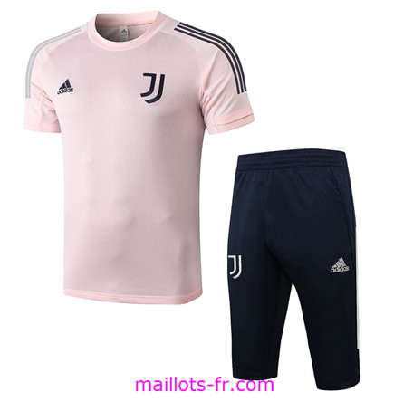 Maillot de foot Training Juventus + Pantalon 3/4 Rose 2020 2021