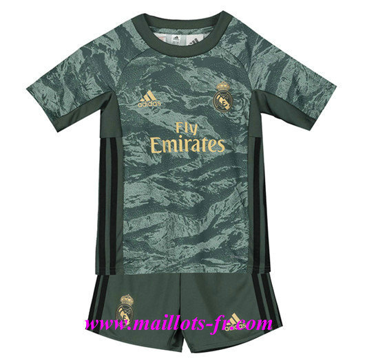 Mode‎ Maillot de Foot Real Madrid Enfant Gris/Vert 2019/2020